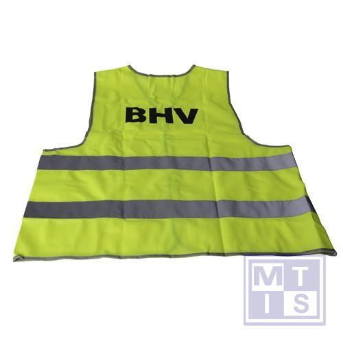 ATV veiligheidsvest XXL opdruk BHV geel-2 str klasse 2
