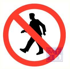 Verboden voor voetgangers vinyl 50mm