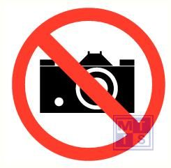 Fotograferen verboden vinyl 90mm