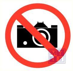 Fotograferen verboden vinyl 400mm
