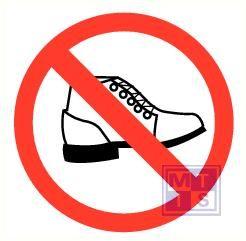 Schoeisel verboden vinyl 300mm