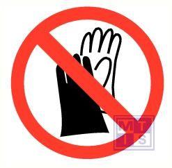Handschoenen verboden vinyl 50mm