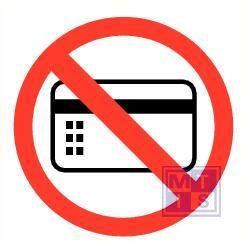 Magneetkaarten verboden pp 90mm