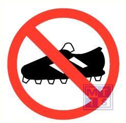 Verboden voor voetbalschoenen vinyl 90mm