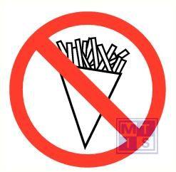 Friet verboden vinyl 90mm