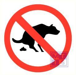 Geen hondenpoep alu 300mm