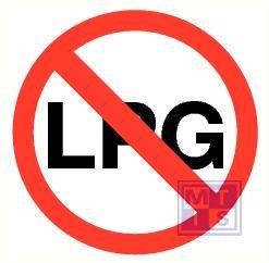 LPG verboden vinyl 300mm