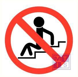 Verboden op de trap te zitten vinyl 90mm