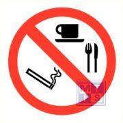 Roken/eten/drinken verboden vinyl 200mm