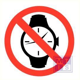 Horloges verboden vinyl 200mm