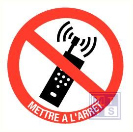 Gsm interdit & tekst pp 100mm