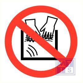 Verboden handen te wassen vinyl 90mm