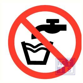 Geen drinkwater pp 90mm