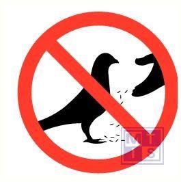 Verboden duiven te voeren vinyl 200mm