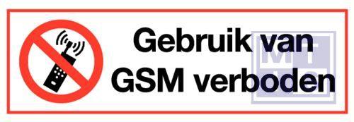 Gsm verboden vinyl 300x100mm