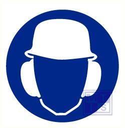 Helm en oorkap verplicht vinyl 90mm