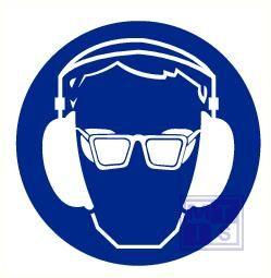 Bril en oorkap verplicht vinyl 400mm