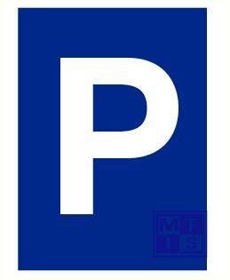 Parkeerbord pp 200x300mm