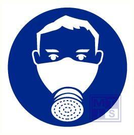 Gasmasker verplicht vinyl 200mm