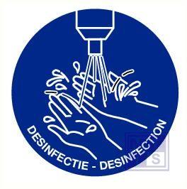 Desinfectie verplicht pp 90mm