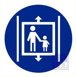 Kind in lift begeleiden vinyl 90mm