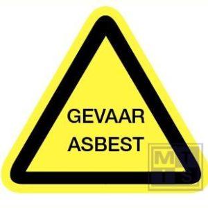 Gevaar asbest vinyl 400mm