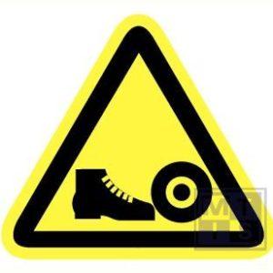 Gevaar voor voeten vinyl 90mm