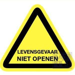 Levensgevaarlijk niet openen pp 200mm
