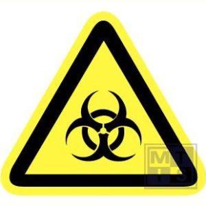 Biologisch gevaar retrorefl. 90mm