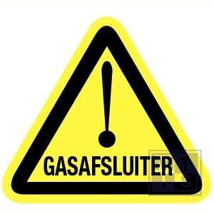 Gasafsluiter vinyl 90mm