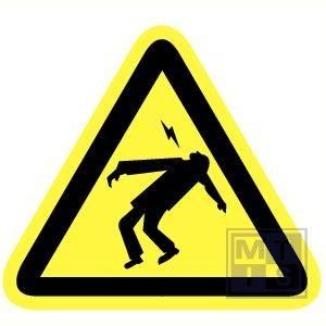 Electrocutie gevaar vinyl 90mm