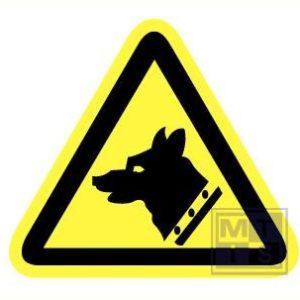 Gevaarlijke hond vinyl 200mm