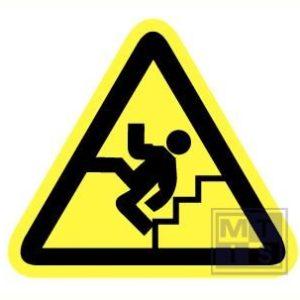 Gevaarlijke trap vinyl 90mm