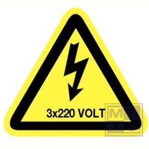 3x220 volt vinyl 90mm