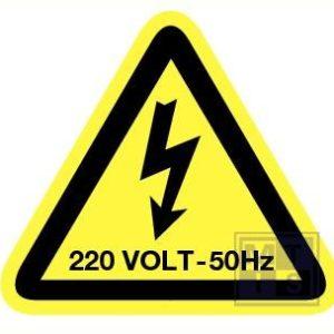 Elektr. Spanning 220 volt - 50 hz vinyl 50mm