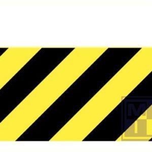 Zebraborden geel/zwart recto pvc 3mm 1000x600x5mm