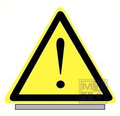 Gevaardriehoeken uitroepteken alu 70cmx55cmx1,5mm