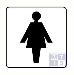 Toilet dames alu 125x125mm