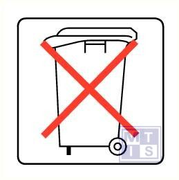 Geen afvalcontainer vinyl 100x100mm