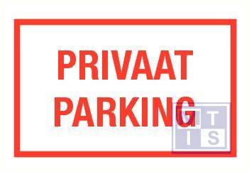 Privaat parking vinyl 400x250mm