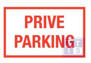 Prive parking vinyl 400x250mm