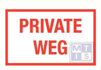 Private weg pp 400x250mm