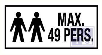 Max 49 personen vinyl 200x100mm
