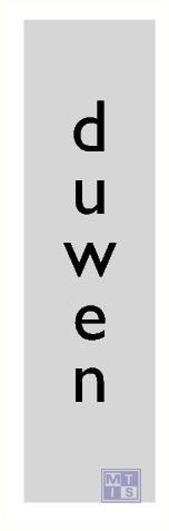Duwen verticaal alulook 45x165mm