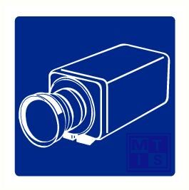 Bewakingscamera vinyl 100x100mm