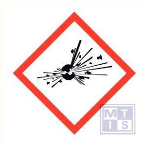 Explosieve stof ghs vinyl 50x50mm