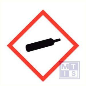 Gashouder onder druk ghs vinyl 100x100mm