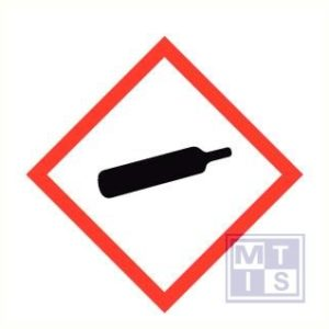 Gashouder onder druk vinyl 250x250mm