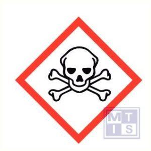 Giftige stoffen vinyl 50x50mm