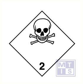 Giftige gassen vinyl 100x100mm